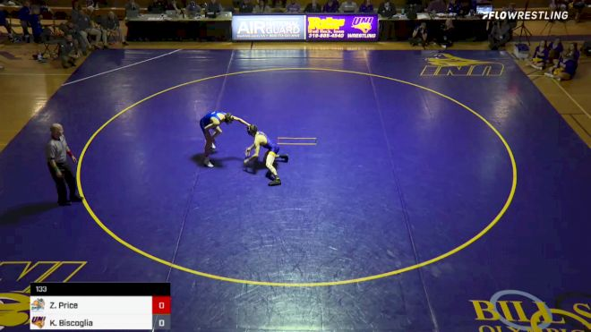 133 lbs Kyle Biscoglia vs Zach Price