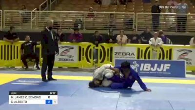 MALACHI JAMES C. EDMOND vs CARLOS ALBERTO 2021 Pan Jiu-Jitsu IBJJF Championship