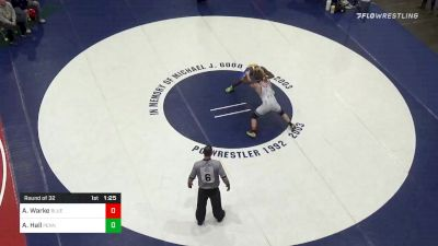 157 lbs Prelims - Augustus Warke, Blue Mountain vs Adam Hall, Penn Trafford