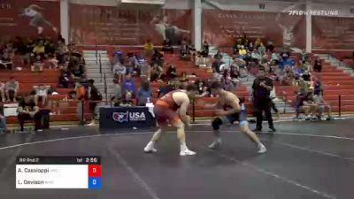 125 kg Prelims - Anthony Cassioppi, Hawkeye Wrestling Club vs Lucas Davison, Wildcat Wrestling Club