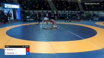 60 kg Semifinal - Dalton Roberts, Army (WCAP) vs King Sandoval, Bandits Wrestling Club