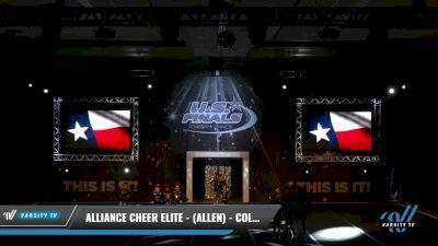 Alliance Cheer Elite - (Allen) - COLONELS [2021 L2.2 Youth - PREP 2] 2021 The U.S. Finals: Grapevine