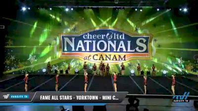 FAME All Stars - Yorktown - Mini Clout [2021 L1 Mini - Small Day 2] 2021 Cheer Ltd Nationals at CANAM