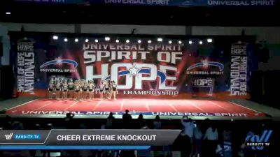 Cheer Extreme Knockout [2021 U19 Level 3 Day 1] 2021 Universal Spirit: Spirit of Hope National Championship