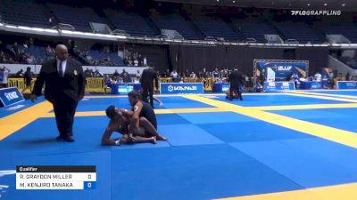 RILEY GRAYDON MILLER vs MARLON KENJIRO TANAKA FAGUNDES 2019 World IBJJF Jiu-Jitsu No-Gi Championship