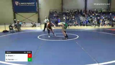 190 lbs 3rd Place - Steele Brown, Morris Fitness vs Hunter Farmer, North Hall Jr. Trojans