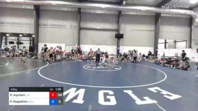 63 kg Prelims - Ryan Aquilani, Lion's Den Wrestling Club vs Patrick Maglathin, Gunston Wrestling Club