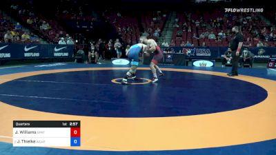 67 kg Quarters - Jessy Williams, Spartan Combat RTC vs Jesse Thielke, Army (WCAP)