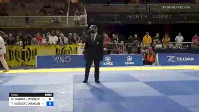 MATHEUS GABRIEL PINHEIRO BARROS vs THIAGO AUGUSTO ARAUJO MACEDO 2020 Pan Jiu-Jitsu IBJJF Championship