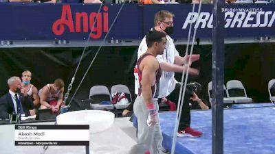 Akash Modi - Still Rings, Stanford Univ - 2021 US Championships Senior Competition International Broadcast