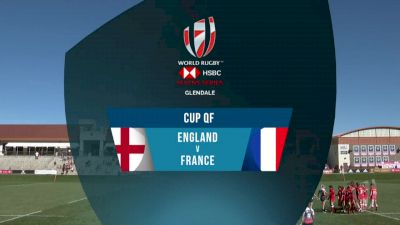 England 7s vs France 7s Cup Quarter Finals | 2018 HSBC Women's 7s Colorado