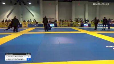 ALYSSA REBECCA LAURON WALLS vs JACLYN CHEREE CATALINE 2021 American National IBJJF Jiu-Jitsu Championship
