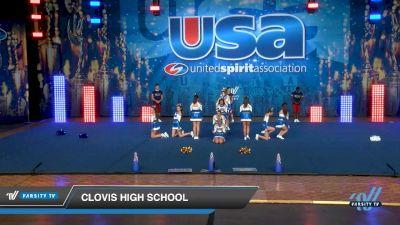 Clovis High School [2019 Small Varsity Show Cheer Intermediate (6-12) Day 1] 2019 USA Spirit Nationals