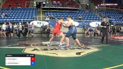 285 lbs Rnd Of 64 - Colton Kinnison, Iowa vs Jerrod Osterkamp, Wisconsin