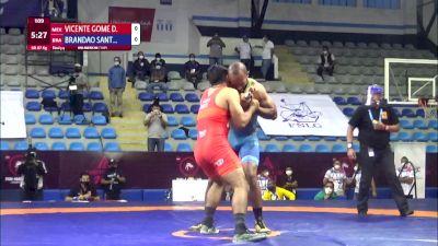87 kg 3rd Place - Daniel Vicente Gomez, Mexico vs Ronisson Brandao Santiago, Brazil