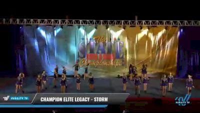 Champion Elite Legacy - Storm [2021 L3 Junior - D2 - Medium Day 2] 2021 The STATE DI & DII Championships