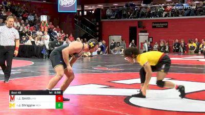 197 lbs Prelims - Jaron Smith, Maryland vs Jackson Striggow, Michigan