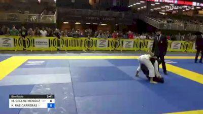 MIA SELENE MENDOZA vs KAILANI RAE CARRERAS 2021 Pan Kids Jiu-Jitsu IBJJF Championship
