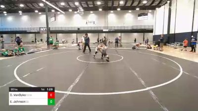 80 lbs Prelims - Dillon VanDyke, Cedar Springs Youth Wrestling Club vs Evan Johnson, G2 Illinois