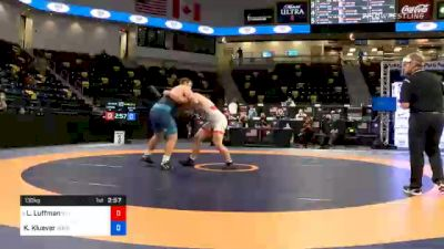 130 kg Prelims - Luke Luffman, Illinois Regional Training Center/Illini WC vs Keaton Kluever, Gopher Wrestling Club - RTC