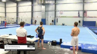 Donnell Whittenburg - Floor, Salto Gymnastics Center - 2021 April Men's Senior National Team Camp