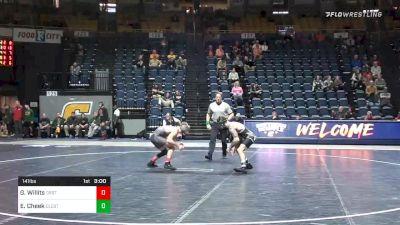 141 lbs Consolation - Grant Willits, Oregon St. vs Evan Cheek, Cleveland State