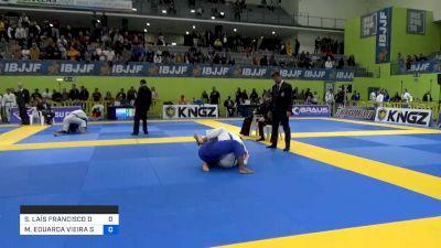 SÁBATHA LAÍS FRANCISCO DOS SANTO vs MARIA EDUARDA VIEIRA SANTOS 2020 European Jiu-Jitsu IBJJF Championship