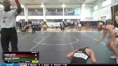 160 lbs Round 9 (10 Team) - Roman Mendez, Team Shutt vs Luke Gayer, TS Dethrone