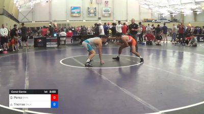 74 kg Consolation - Quentin Perez, Campbell vs Justin Thomas, Oklahoma