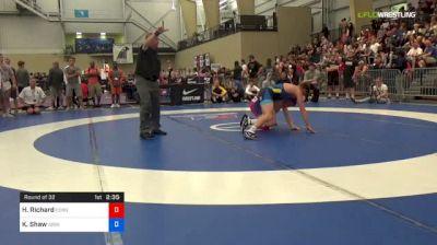 70 kg Round Of 32 - Hunter Richard, Cornell University vs Keegan Shaw, University Of Iowa