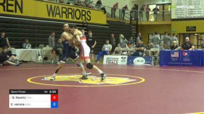 55 kg Semifinal - Brady Koontz, Ohio State-Unattached vs Elijah Varona, Garage Boyz