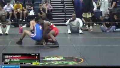 105 lbs 5th Place Match - Joshua Vasquez, Michigan vs Deion Johnson, Illinois