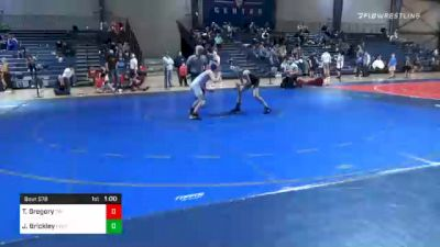 90 lbs 5th Place - Trey Gregory, Teknique Wrestling vs Jackson Brickley, Level Up