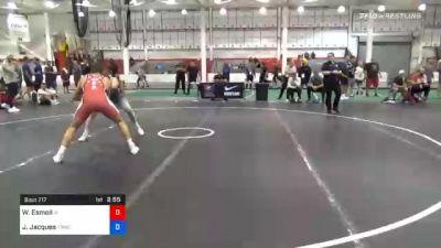 74 kg Consolation - Will Esmoil, Iowa vs Jarrett Jacques, Tiger Style Wrestling Club
