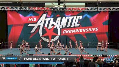 FAME All Stars - PA - Fame Black Widows [2020 L3 Junior - Medium Day 1] 2020 Mid-Atlantic Championships