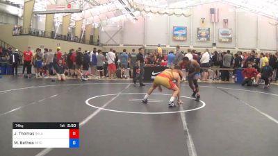 74 kg Quarterfinal - Justin Thomas, Oklahoma vs Maaziah Bethea, PRTC