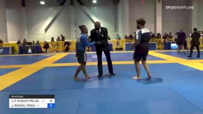 JORGE F CHAVEZ POLACK vs JOHNNATHAN RAFAEL PENA 2021 American National IBJJF Jiu-Jitsu Championship