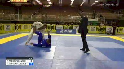 FELIPE ANDREW LEANDRO SILVA vs RAFAEL VASCONCELOS DE LIMA 2021 Pan Jiu-Jitsu IBJJF Championship