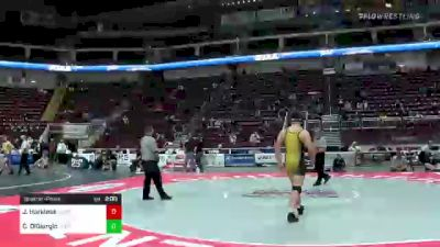 215 lbs Quarterfinal - Josh Harkless, Wilson vs Carl DiGiorgio, Central Bucks West