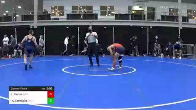 157 lbs Quarterfinal - Jaden Fisher, Bucknell vs Andrew Cerniglia, Navy