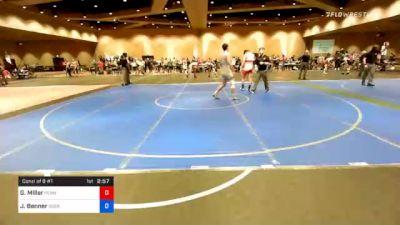 74 kg Consolation - Gabe Miller, Pennsylvania RTC vs Jake Benner, Scarlet Knights Wrestling Club
