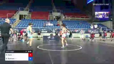 132 lbs Consi Of 16 #2 - Dyson Kunz, Nebraska vs Dyson Dunham, Virginia