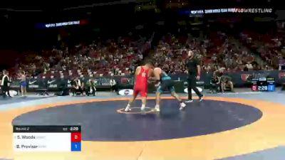 82 kg Round 2 - Spencer Woods, Army (WCAP) vs Ben Provisor, New York Athletic Club