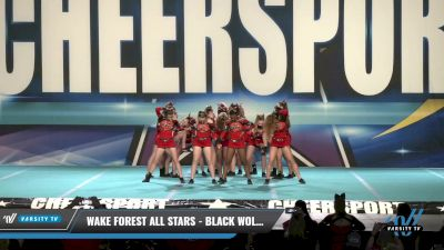 Wake Forest All Stars - Black Wolves [2021 L4 Junior - D2 Day 1] 2021 CHEERSPORT: Charlotte Grand Championship