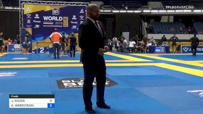 JACKSON SOUSA vs ADAM WARDZINSKI 2019 World IBJJF Jiu-Jitsu No-Gi Championship