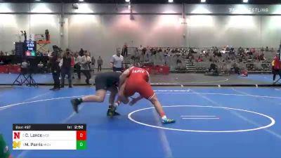 285 lbs Semifinal - Christian Lance, Nebraska vs Mason Parris, Michigan