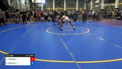 61 kg Prelims - Jesse Vasquez, California vs Caden McCrary, Georgia