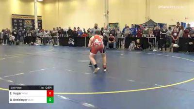 150 lbs 3rd Place - Evan Hugar, Montgomery vs Brennan Breisinger, Quaker Valley