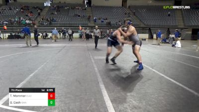 285 lbs 7th Place - Tommy Mommer, Clackamas vs Gunner Cash, Iowa Central
