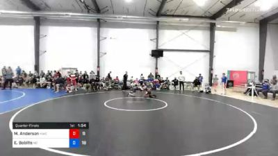 48 kg Quarterfinal - Miles Anderson, MWC Wrestling Academy vs Evan Boblits, M2 Gold